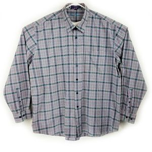 Alan Flusser Long Sleeve Button Front Shirt XXL